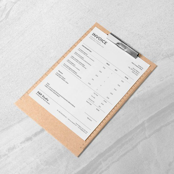 Receipt Template Photography Invoice Invoice Docx Bill Etsy