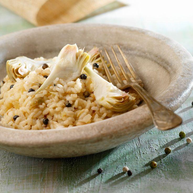 Découvrez la recette Risotto crémeux aux artichauts sur cuisineactuelle.fr.