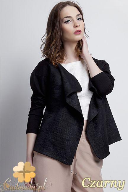 Modny, niezapinany, kobiecy żakiet firmy Lanti.  #cudmoda #ubrania #odzież #styl #moda #clothes