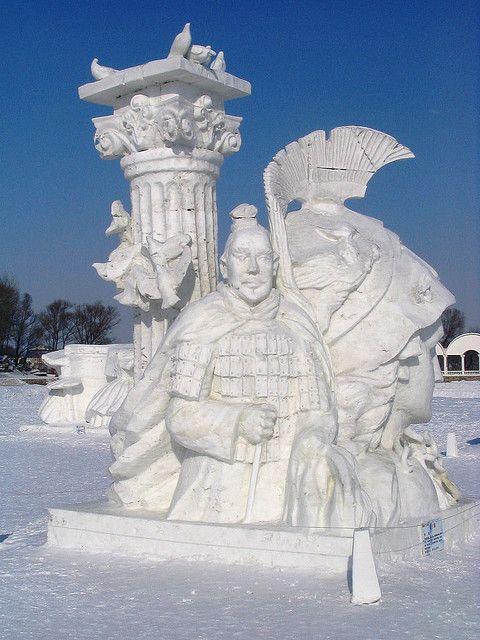 Snow Sculptures, Harbin05 by MattinChina, via Flickr