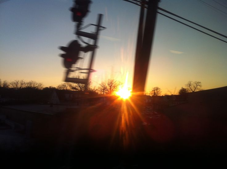 from a train