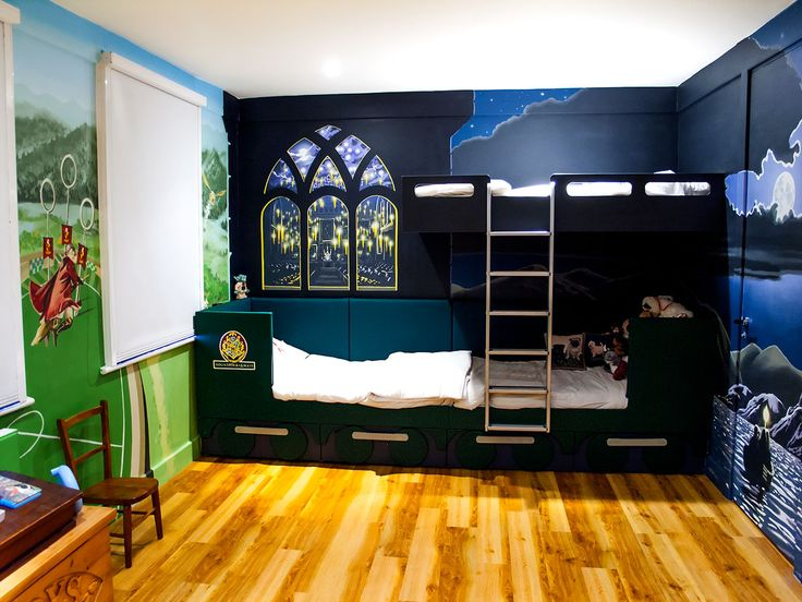 Hogworts Comforter | Harry Potter Wall Murals In Boys Bedroom With The  Blackout Blinds Down . Great Pictures