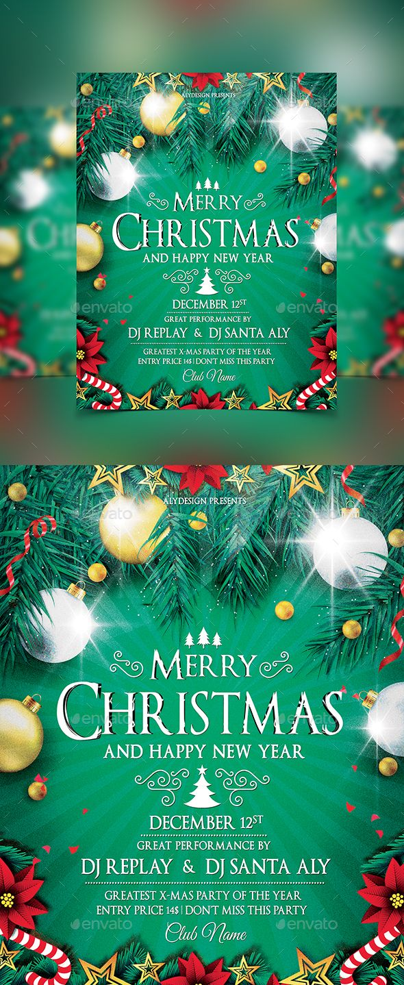 Christmas Flyer Template PSD #design Download: http://graphicriver.net/item/christmas-flyer/13911641?ref=ksioks