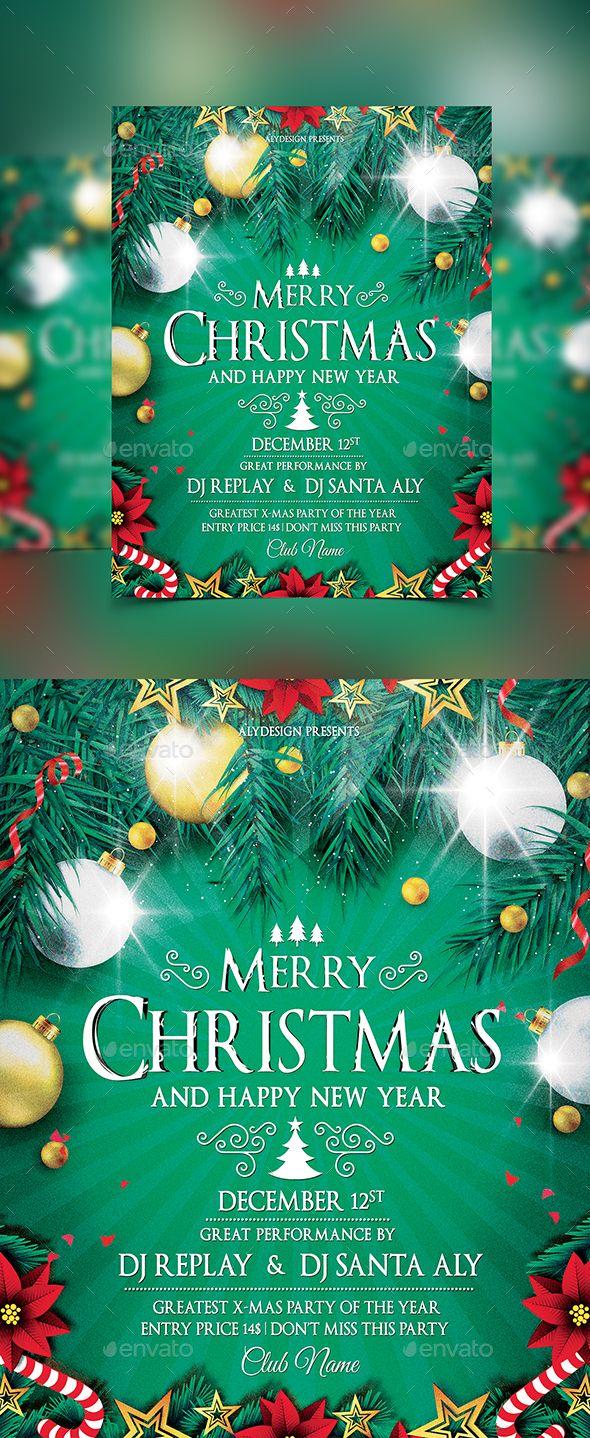 Christmas Flyer Template PSD #design Download: http://graphicriver.net/item/christmas-flyer/13911641?ref=ksioks