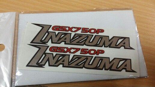 Suzuki GSX 750 Inazuma frame cover decal