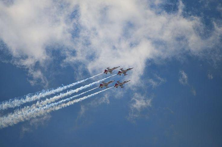 Karaman'da bugün Türk Yıldızlarının prova uçuşları nefes kesiciydi.