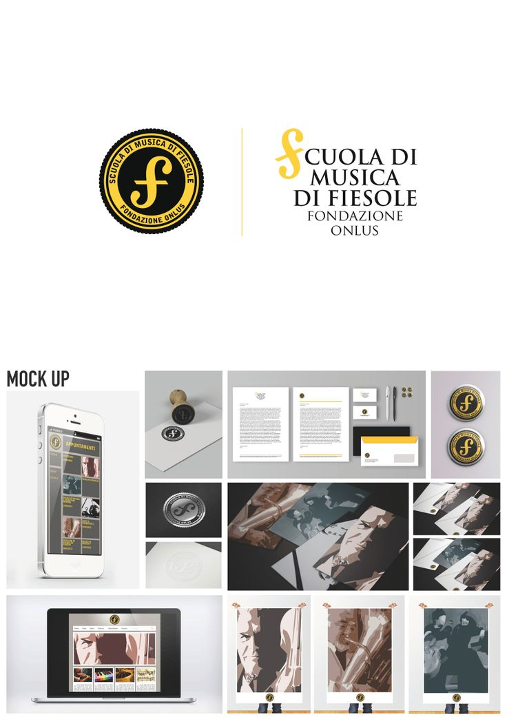 "Scuola di Musica di Fiesole. This communication project has been realized in the Univercity of design in Florence ""Istituto Superiore per le Industrie Artistiche"" and commissioned by the Scuola di Musica di Fiesole (Florence). The project consists in a presentation of a logo and an advertising campaign. It presents a corporate image that also includes proposals for the web (website and smartphone application) and for various products useful for the work of administration and publicizing."