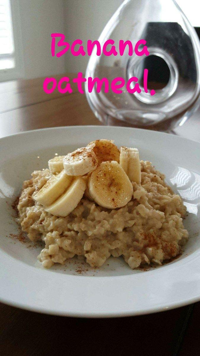 Banana Oatmeal Morning Wake-up. Easy breakfast recipe. perfect for GERD, Acid Reflux, gastritis.