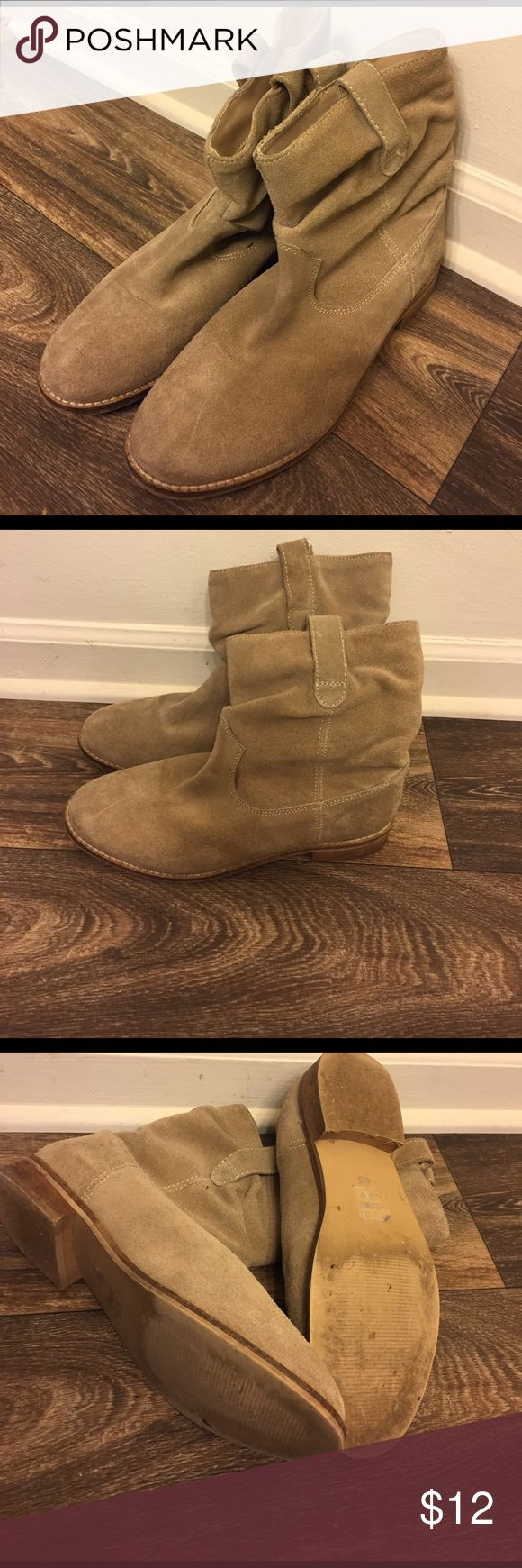 Asos Low Boots Suede like very lightly worn booties originally from ASOS. Brand is marked on inside to prevent store returns. Great condition! Fits more like a 7-7 1/2 ASOS Shoes Ankle Boots & Booties
