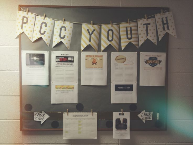 Youth bulletin board