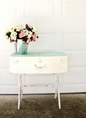 Shabby Chic Suitcase Table ~ Sold | My Vintage Room