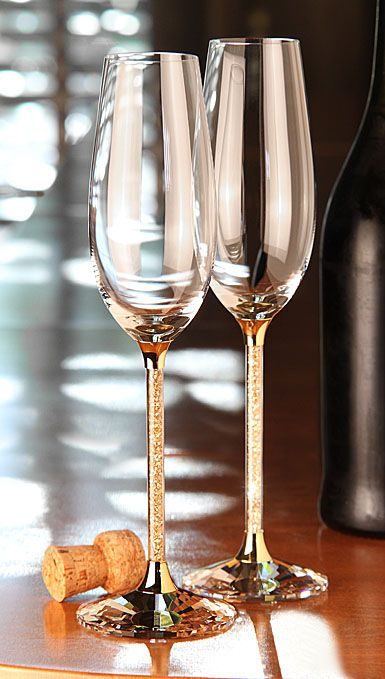 a girl can dream... $400 swarovski champagne flutes