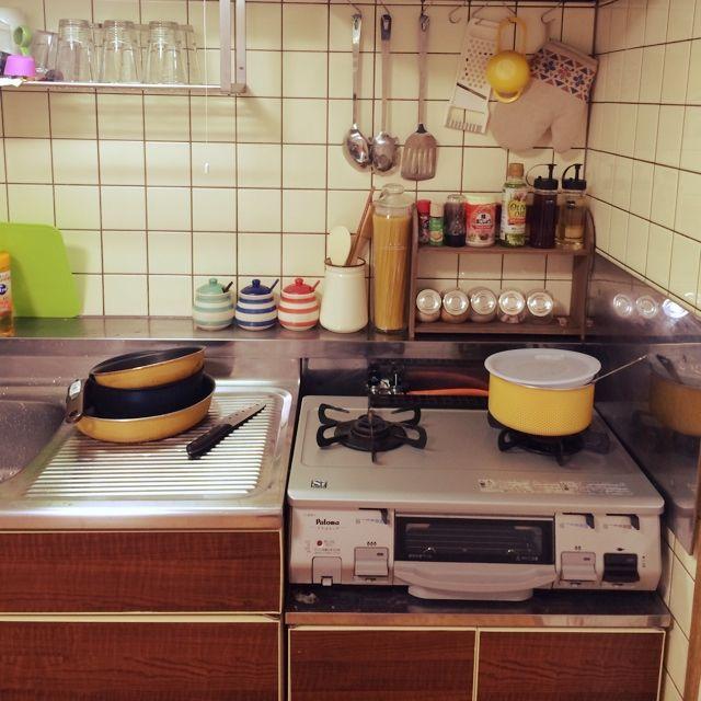 キッチン 男前目指したい 雑貨 古いキッチン 賃貸 などのインテリア実例 2014 09 18 15 00 40 Roomclip ルームクリップ 古い キッチン キッチン インテリア