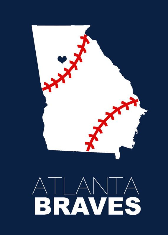 INSTANT DOWNLOAD - Atlanta Braves Baseball Digital File - 5x7
