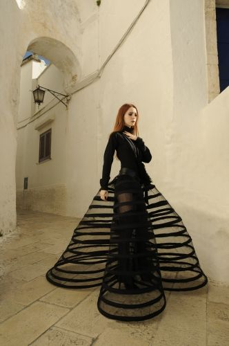 Angelique Lang F/W 2011. Hoopskirt/ Cage Crinoline