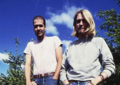 Krist Novoselic and Kurt Cobain, 1990