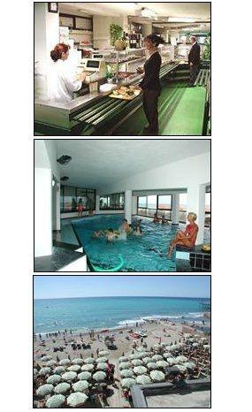 per i nostri clienti dell'albergo incluso piscina coperta e spiaggia privata ai Bagni Stella Maris, servita con navetta.