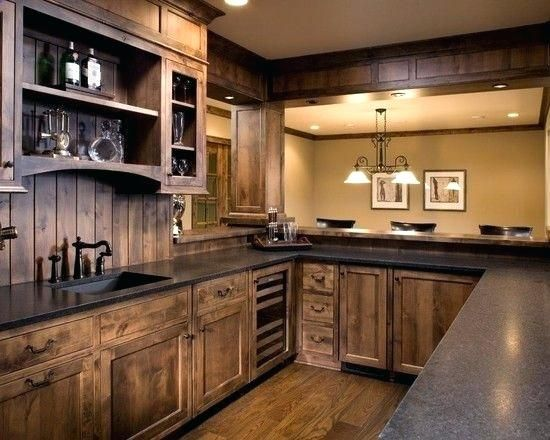 Knotty Alder Cabinets Love The Color Of Stain Wood Kitchen ...