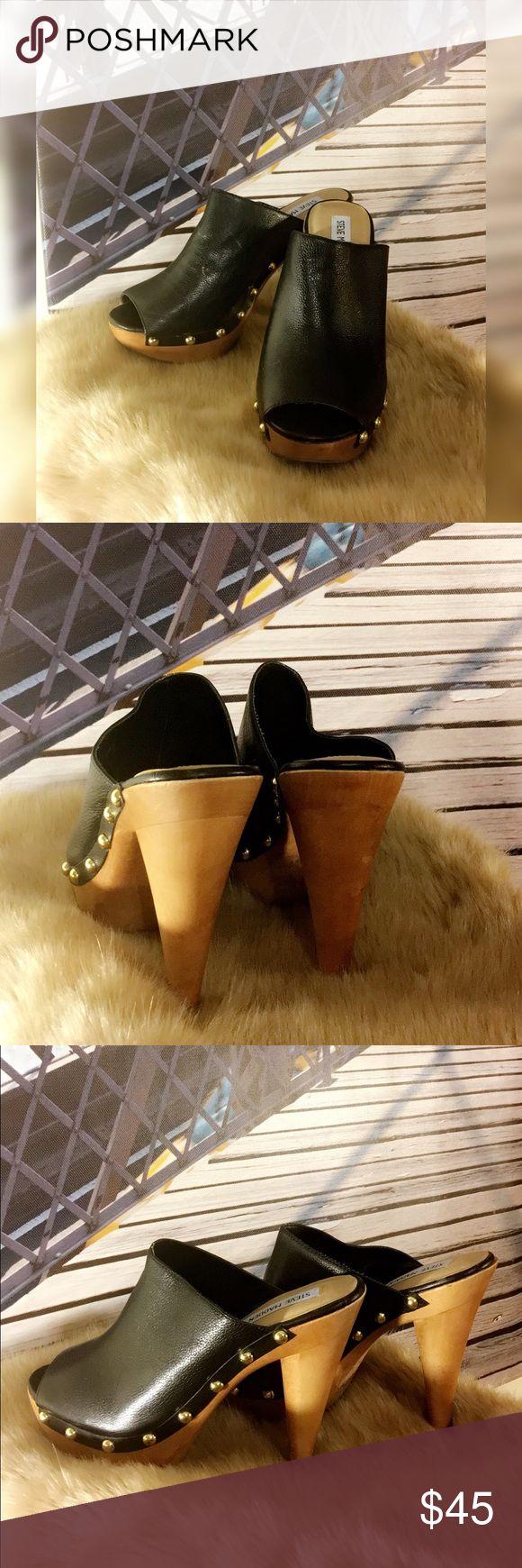 Steve Madden Heeled Clogs (make an offer) Beautiful high heeled studded clogs Steve Madden Shoes Heels