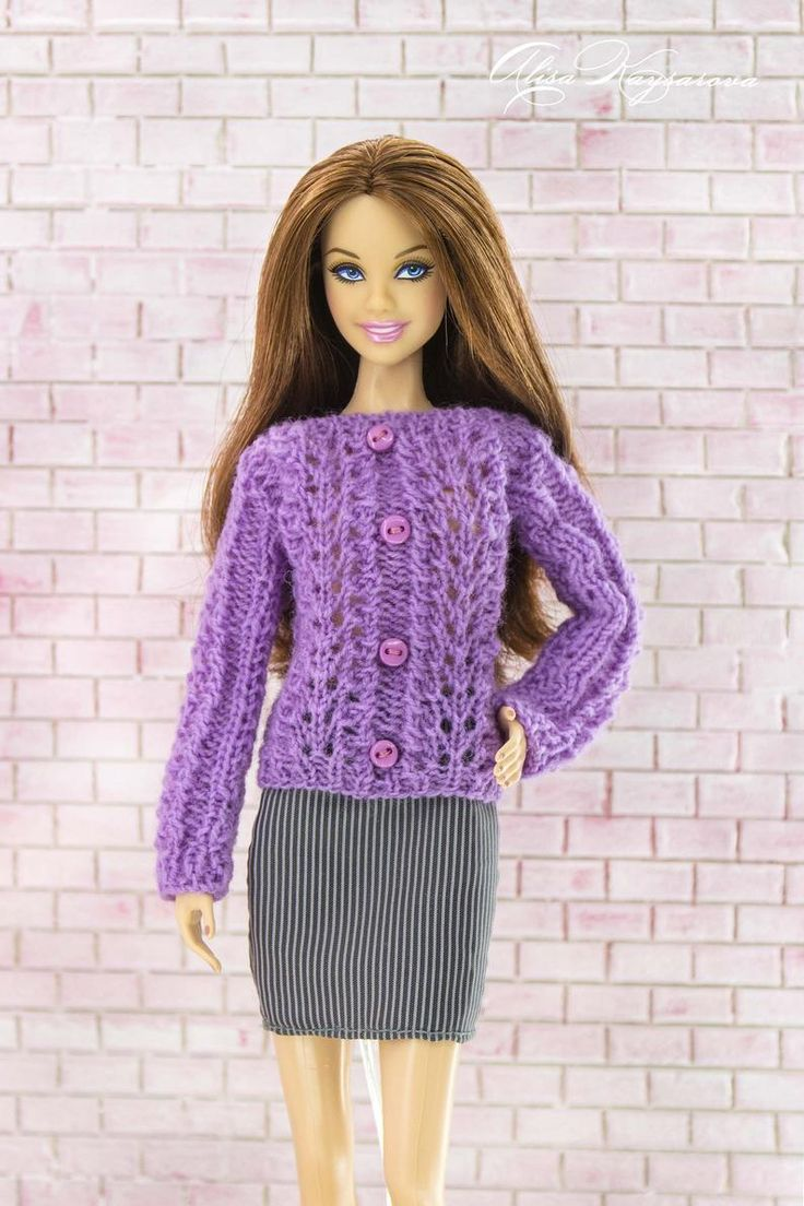 Barbie sweater. Fashion <b>doll</b> clothes Handmade knitted jumper. | Etsy