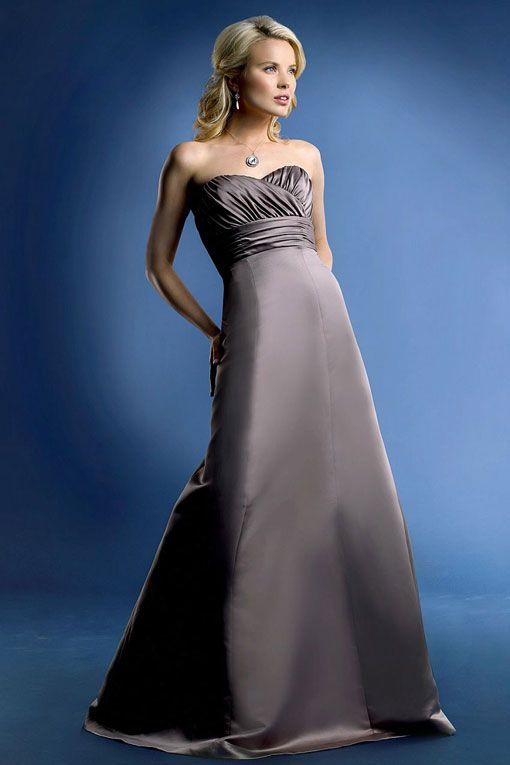 Sweetheart A-line with zipper back satin bridesmaid dress