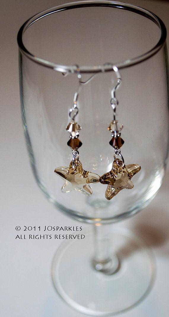 Swarovski Crystal Earrings - Starfish