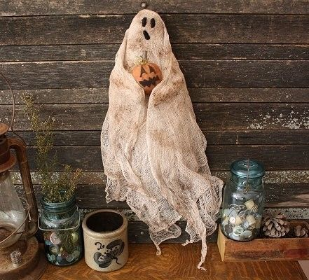 Primitive Halloween Ghost Door Doll E Pattern by rockriverstitches
