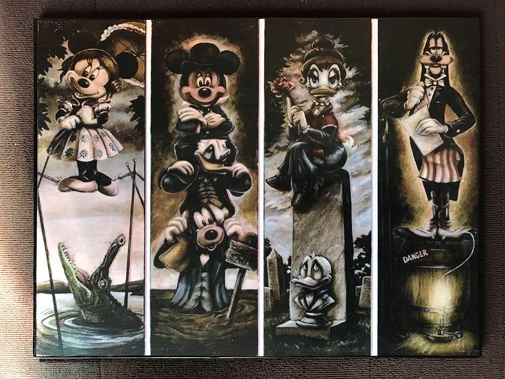 Mickey and Friends Haunted Mansion Stretching Portraits Disneyland  Art by TikiGonzo on Etsy https://www.etsy.com/listing/505393546/mickey-and-friends-haunted-mansion