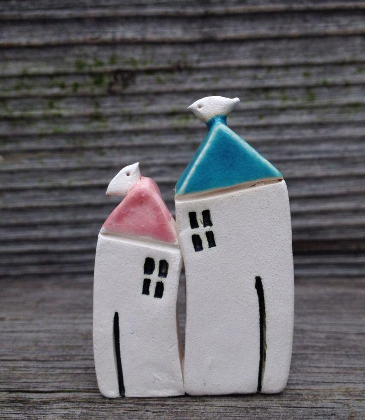 Ceramics little houses  Facebook.com/ceramikashe art-ab.blogspot.com #ceramics,#pottery,#houses,#home