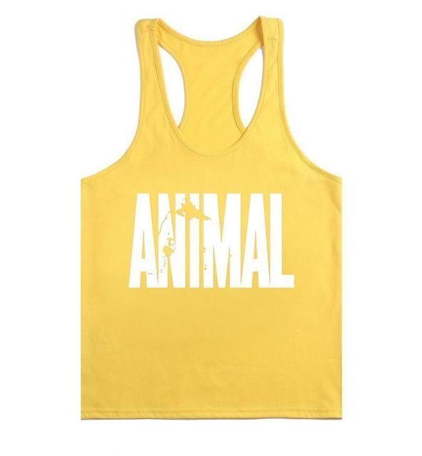 Brand Gymwear Tank Top Men Bodybuilding Stringer Male ANIMAL Printing Fitness Shirt Workout