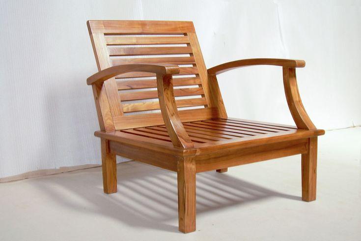 Easy chair - Kayu jati perhutani cushion dudukan dan sandaran termasuk