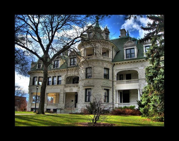 The Webb-Horton Mansion, now Morrison hall for Orange Community College in Middletown NY. This palatial white marble mansion was constructed in 1905 and designed by architect Frank J. Lindsey for oil and textile magnate Webb Horton. It was donated to the college in 1950 and is a beautiful example of the guilded age mansions being constructed around the turn of the century. The muraled ceilings were painted by W. Dodge, an award winning painter from the turn of the century. Taken by emowolf87…
