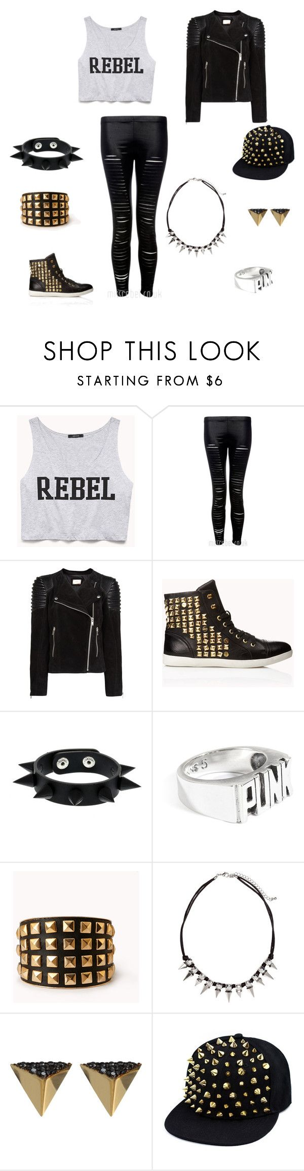 """""""Punk rebel outfit."""" by doctorwho28929 ❤ liked on Polyvore featuring Forever 21, MANGO, Tom Binns, H&M, Ileana Makri, women's clothing, women, female, woman and misses"""