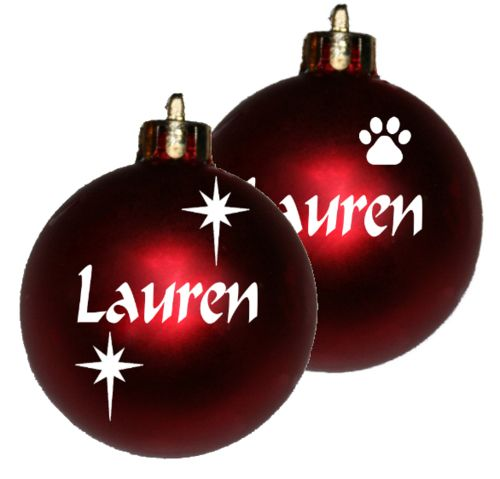 Personalised Christmas baubles in South Africa.  We sell country-wide. Re-sellers welcome