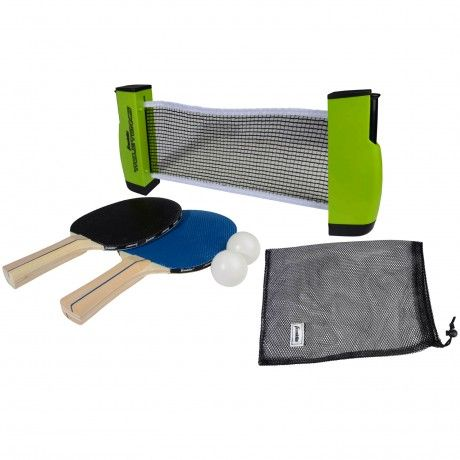 Table Tennis To Go - The versatile Table Tennis To Go attaches to any surface area measuring 75 inches wide and 1.75 inches thick. The compact design provides easy storage and includes a expandable/retractable net, 2 paddles, 2 balls, and a mesh carry bag. - See more at: http://franklinsports.com/shop/table-tennis-to-go