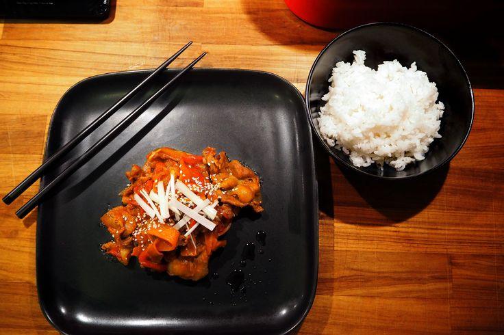 Spicy Korean Jeyuk-bokkeum
