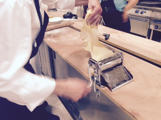 Cooking class with Sebastien Donghia - home-made italian pasta