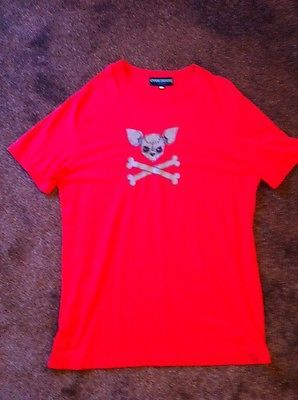 Red men's tee with ChiChi uv logo