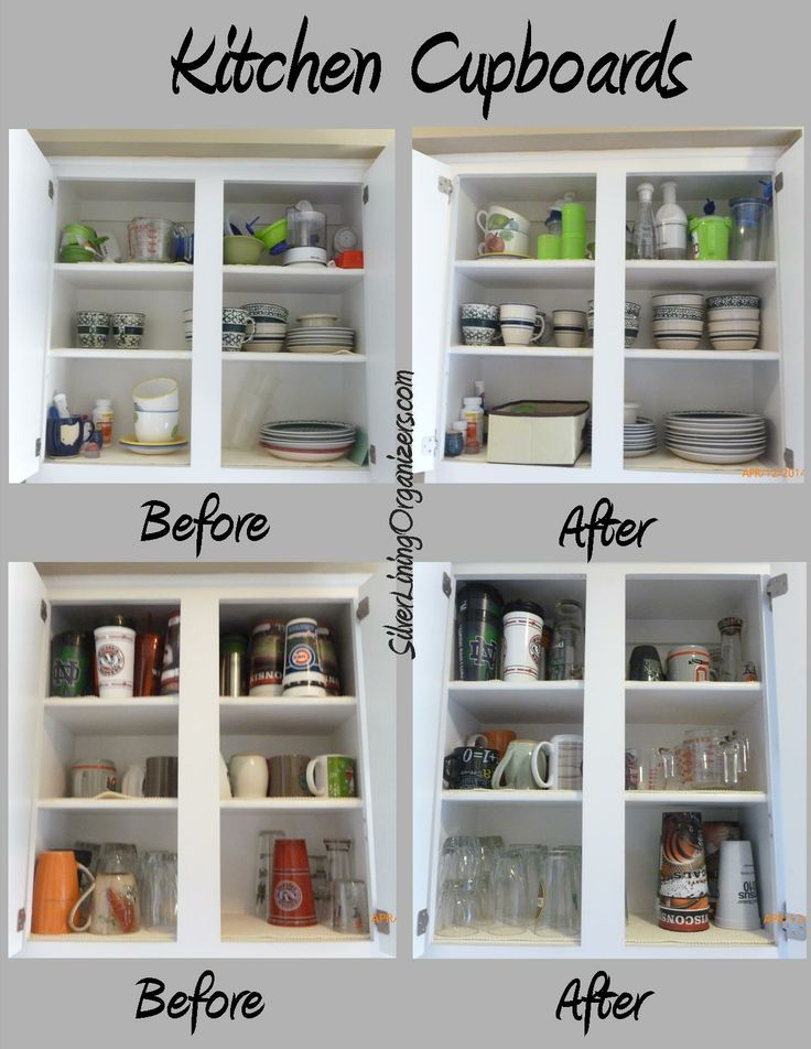 Awesome Silver Lining Organizers, LLC Organized Kitchen Cupboards   Keep Things You  Use Daily On The Lower Shelves. Add A Bin For Small Loose Items.