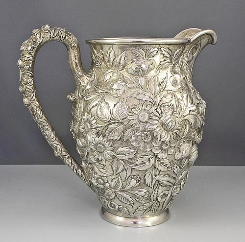 kirk repousse sterling pitcher