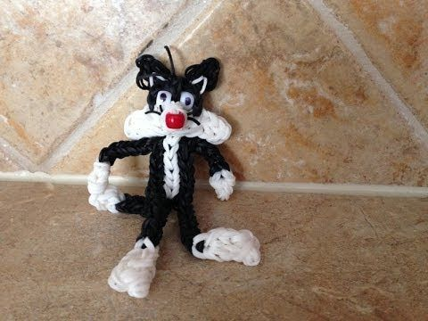 Rainbow Loom SYLVESTER the Cat (Looney Tunes). Now on YouTube. Subscribe ❤️❤️ http://m.youtube.com/user/LoomingWithCheryl