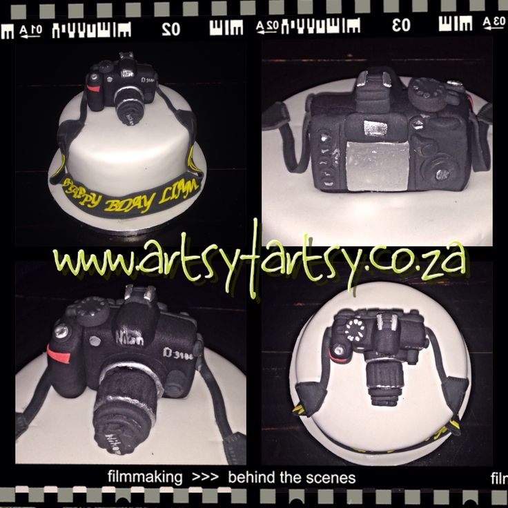 Nikon DSLR Camera Cake #nikoncake #cameracake #nikonD3100