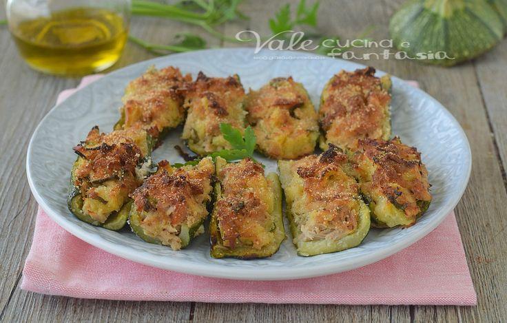 ZUCCHINE RIPIENE AL TONNO ricetta senza uova,ricetta facile, ricetta leggera,ricetta zucchine ripiene gustosa e velocissima