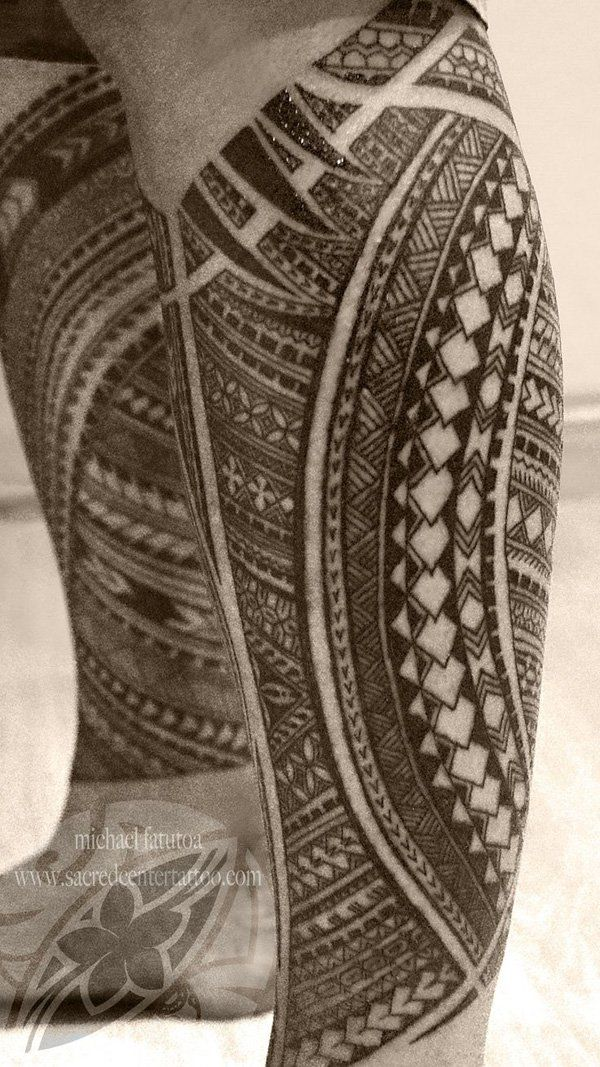 tribal leg tattoo - 70 Awesome Tribal Tattoo Designs <3 !