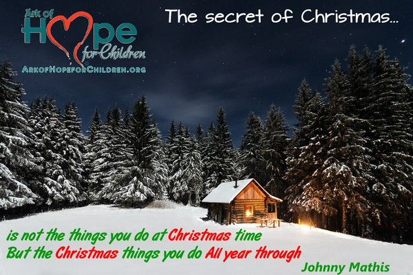 Not just at #Christmas time, let's do those Christmas things ALL YEAR THRU! http://bit.ly/10zaU4F @Ark