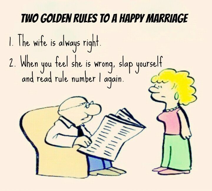 Two Golden Rules To A Happy Marriage - Jokes
