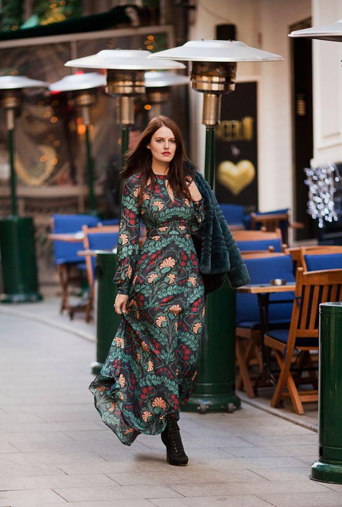d546ce38c6b Idée tenue automne hiver 2018 robe boheme longue manche longue vetement hippie  chic beauté et mode tenue de la rue