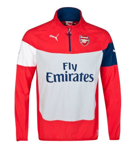 Arsenal Training Fleece Red Arsenal London Official Merchandise Available at www.itsmatchday.com