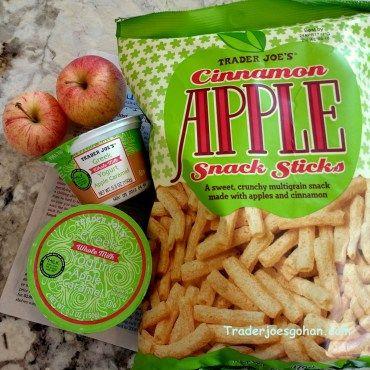 Trader Joe's Cinnamon Apple Snack Sticks  6 oz. $2.49 |   Whole Milk Greek Yogurt Apple Caramel 5.3 oz. $0.99 | #TraderJoes #GreekYogurt #Apple #Caramel  #Cinnamon #Apple #Snack