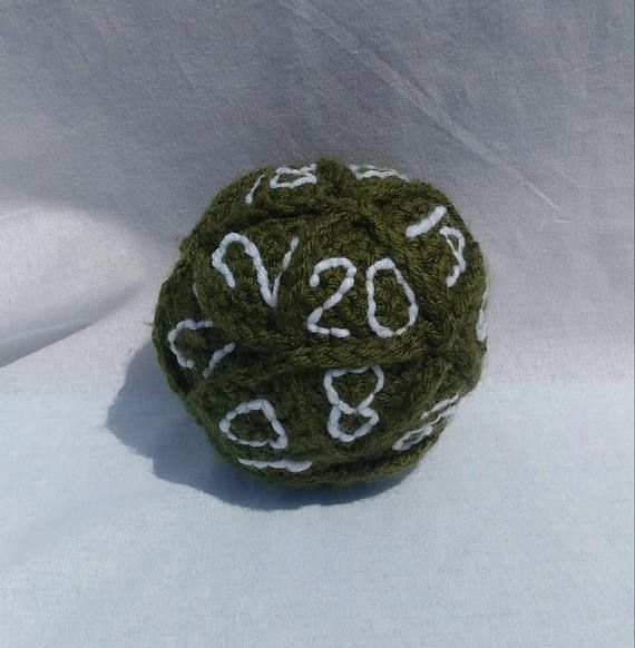 20 sided dice crochet stuffed toy gaming dice role playing
